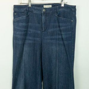 J. Jill Smooth-Fit Full Leg Blue Jeans Size 16